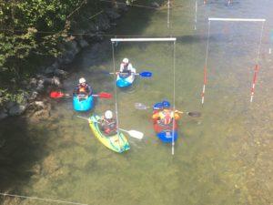 reprise de l'Ecole de pagaie au club de Chambéry le Bourget Canoë-kayak